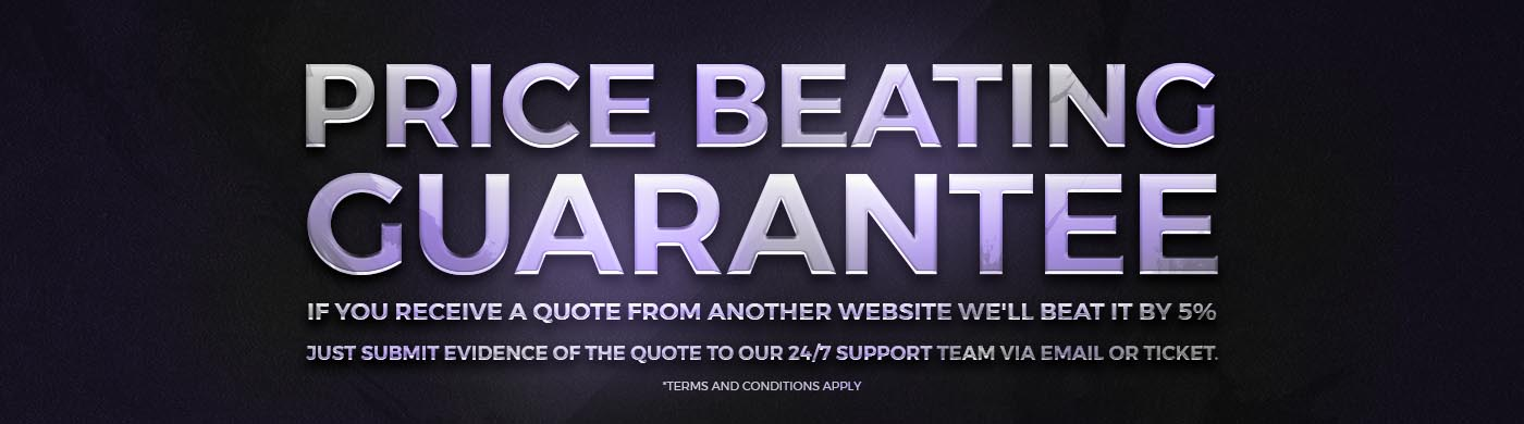 Price Beating Guarantee for all accounts